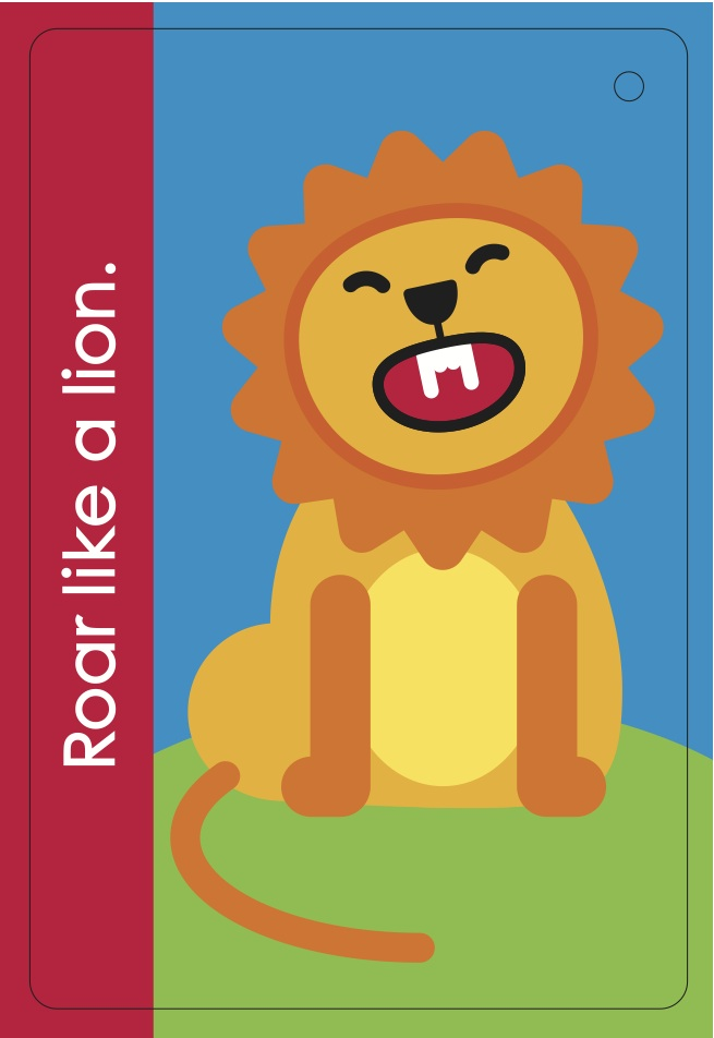 Fundanoodle by Carolina Pad Muscle Mover Roar like a Lion card.