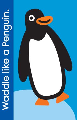 Fundanoodle by Carolina Pad Muscle Mover Card Waddle like a Penguin