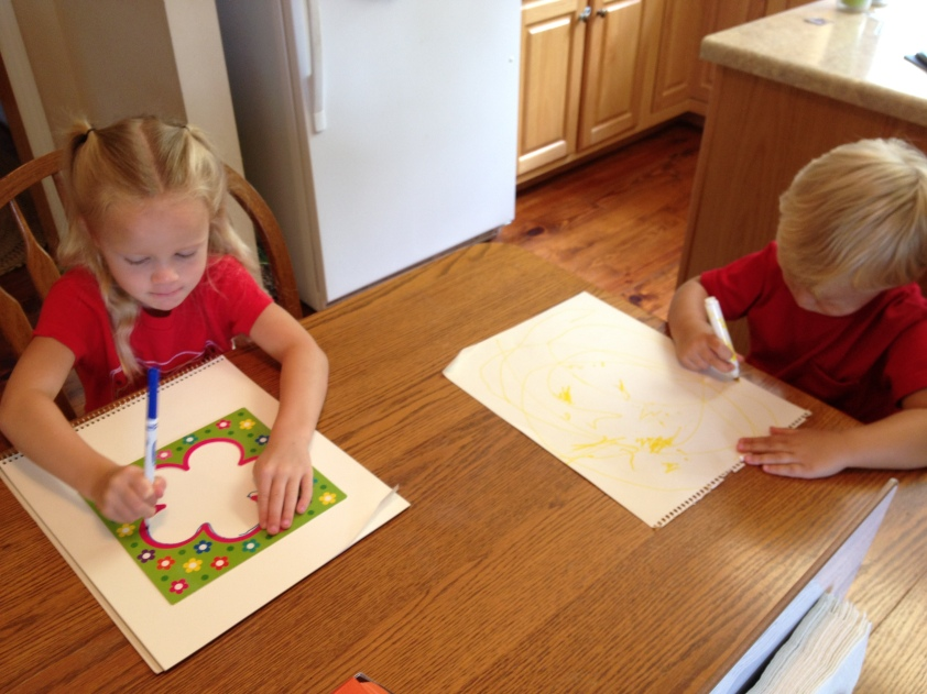 Tracing fun for a Father's Day present with Fundanoodle.