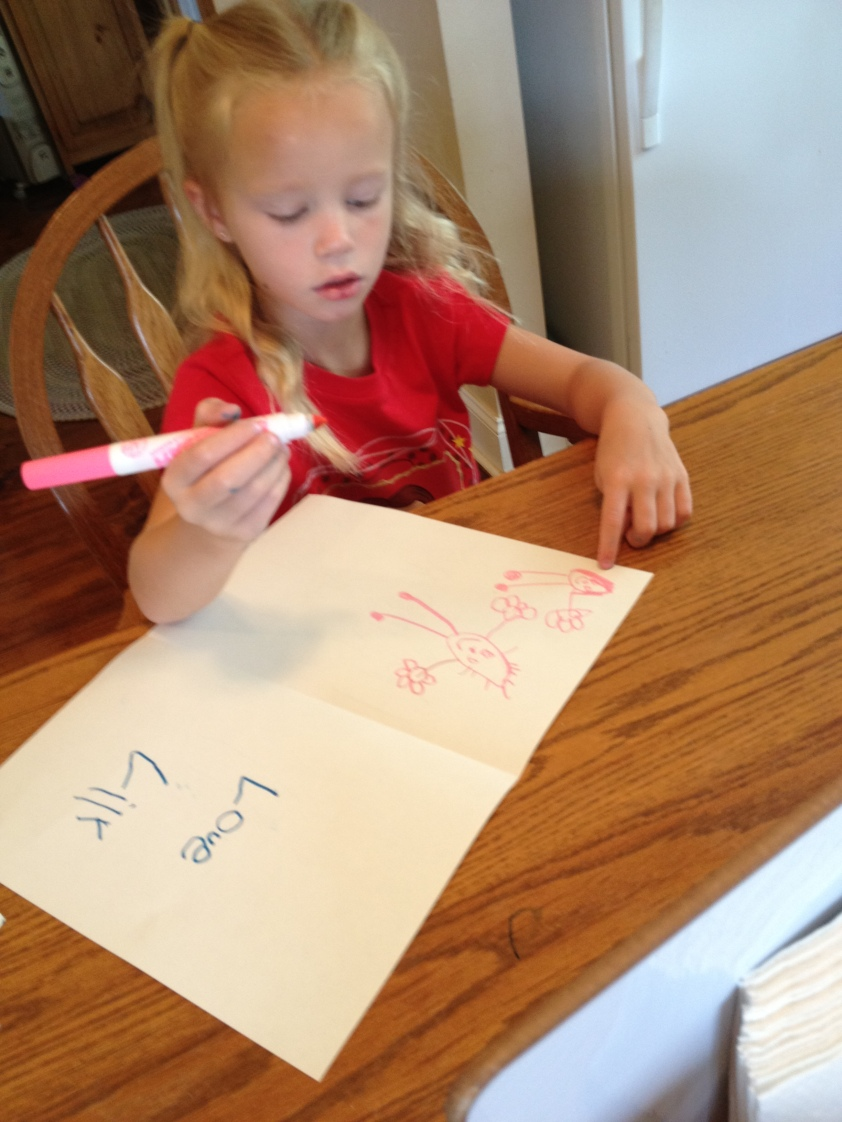 Creating a Father's Day card with items from Fundanoodle Activity kits!