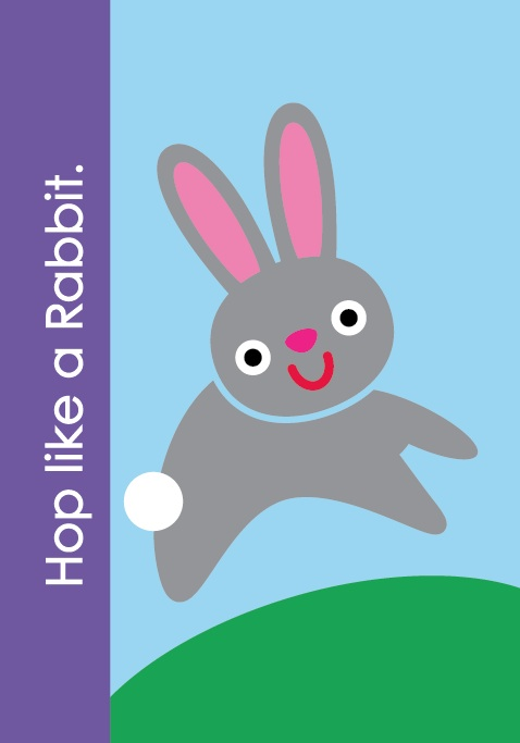 "Fundanoodle by Carolina Pad Muscle Mover Card ""Hop Like A Rabbit!"""