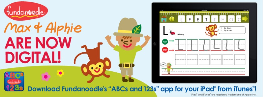 Fundanoodle by Carolina Pads ABCs and 123s iPad app