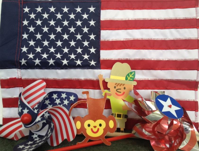 Max and Alphie feeling patriotic!