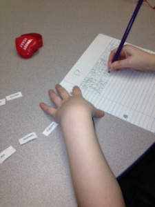 writing hearts